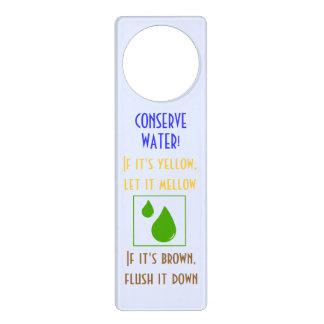 Conserve Water Toilet Handle Hanger