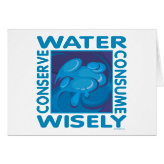 Conserve Water - Use Wisely Card