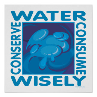 Conserve Water - Use Wisely Poster