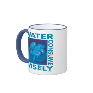 Conserve Water - Use Wisely Ringer Mug