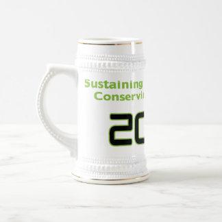 Conserve White Stein Coffee Mug