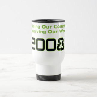 Conserve White Traveler Coffee Mug