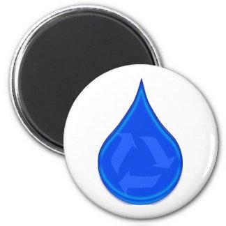 Conserve y ahorre el agua imán redondo 5 cm