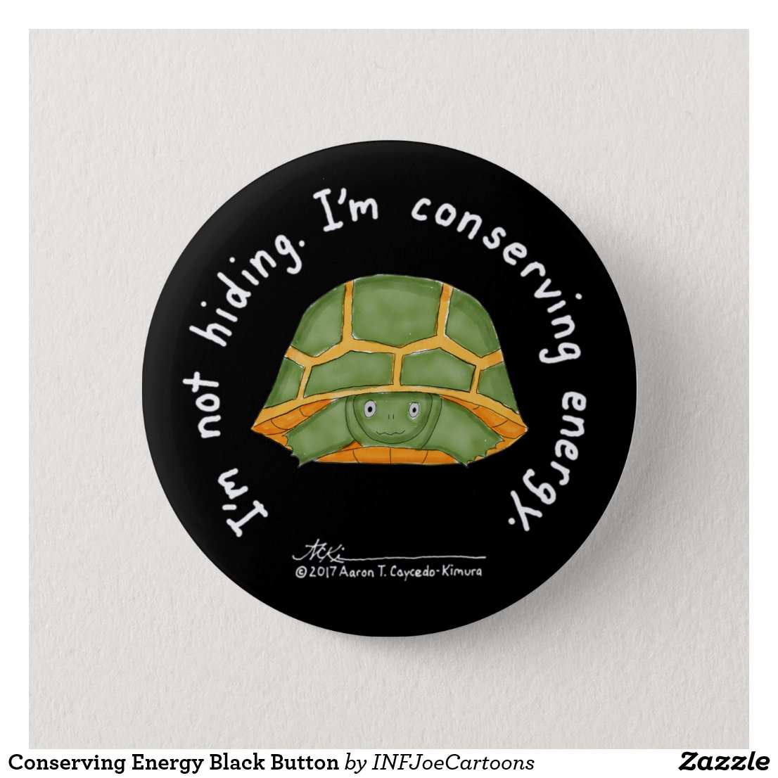Conserving Energy Black Button