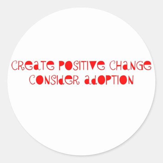 Consider Adoption Classic Round Sticker