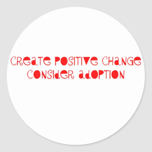 Consider Adoption Stickers