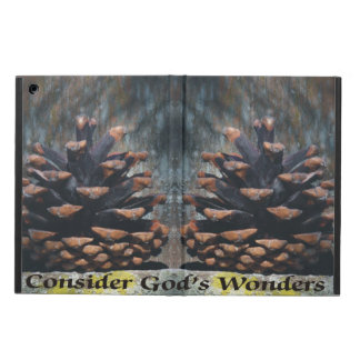 Consider God's Wonders Pine Cone On Fence Case For iPad Air