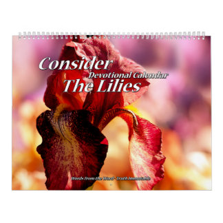 Consider The Lilies Devotional Calendar two page
