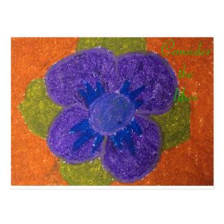 Consider the lilies Scripture Art Mark 10:24-25 Postcard