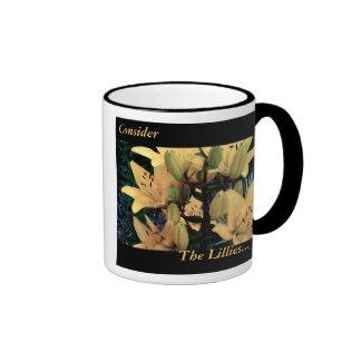 Consider the Lillies Ringer Coffee Mug
