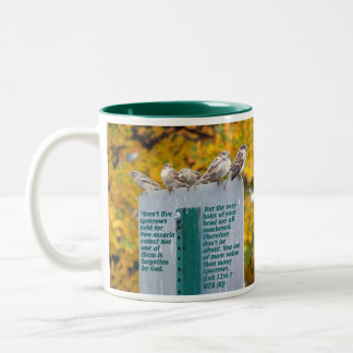 Consider the Sparrows Two-Tone Coffee Mug