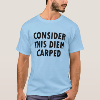 Consider This Diem Carped Tee Guys Blue T Shirt