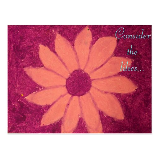 Considere los lirios flor del rosa y del fuschia tarjeta postal