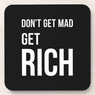 Consiga a éxito rico el blanco de motivación de la posavasos