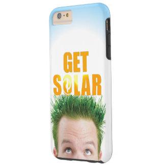 Consiga a logotipo solar el caso respetuoso del funda de iPhone 6 plus tough