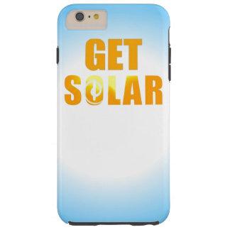 Consiga a logotipo solar el teléfono de energía funda de iPhone 6 plus tough