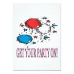 Consiga a su fiesta encendido invitación 12,7 x 17,8 cm