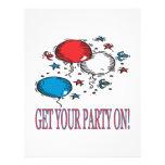Consiga a su fiesta encendido tarjetón