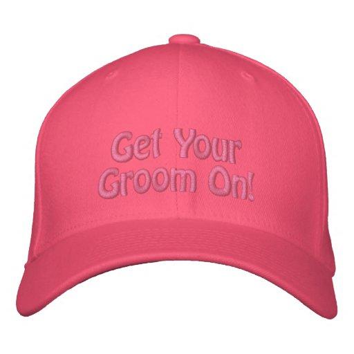 ¡Consiga a su novio encendido! Groomer bordado del Gorra De Béisbol