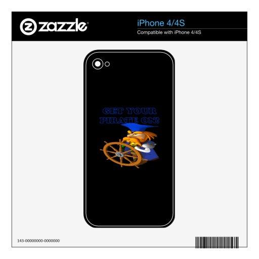 Consiga a su pirata encendido skin para el iPhone 4