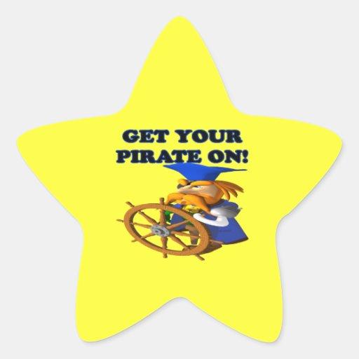Consiga a su pirata encendido calcomanía forma de estrella personalizada