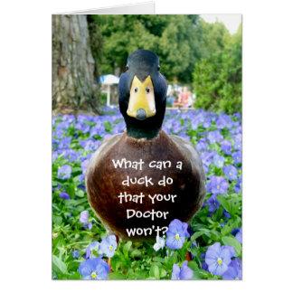 Consiga a tarjeta bien el pato divertido
