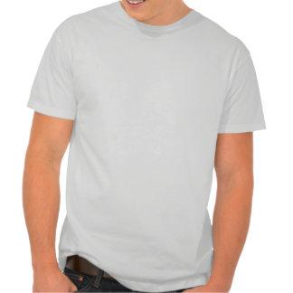 Consiga abajo de la camiseta gris del shortsleeve
