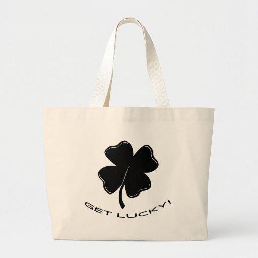 Consiga afortunado bolsa de tela grande