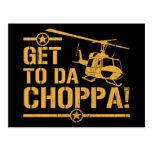 Consiga al vintage de DA Choppa Postales