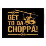 Consiga al vintage de DA Choppa Tarjeta De Felicitación