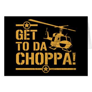 Consiga al vintage de DA Choppa Tarjeta