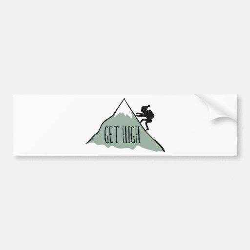 Consiga alto pegatina de parachoque