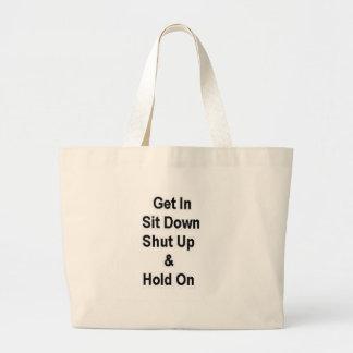 Consiga asisten abajo cerrado para arriba y se sos bolsa tela grande