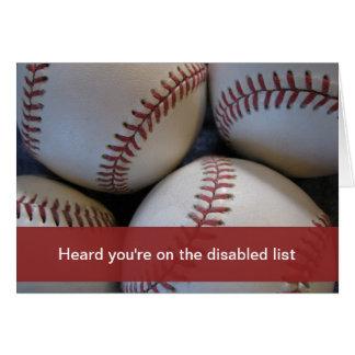 Consiga bien, béisbol tarjeta de felicitación
