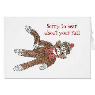 Consiga bien de una tarjeta de la caída