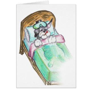 consiga bien pronto: cama tarjeta de felicitación