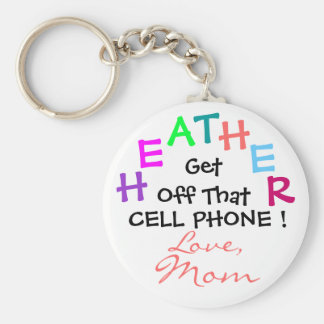 ¡Consiga de ese teléfono celular! Llavero Redondo Tipo Pin