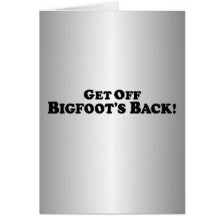 Consiga de la parte posterior de Bigfoot - básica Felicitacion