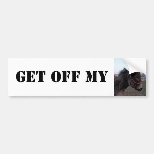 ¡Consiga de mi burro! Pegatina para el parachoques Pegatina De Parachoque