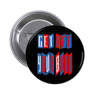 Consiga de su botón del extremo (el estilo del aco pin redondo de 2 pulgadas