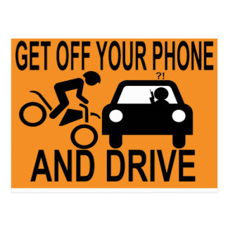 Consiga de su teléfono y conduzca postales