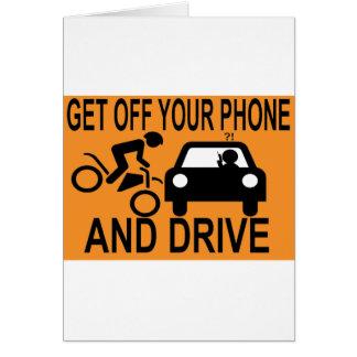 Consiga de su teléfono y conduzca tarjeta de felicitación