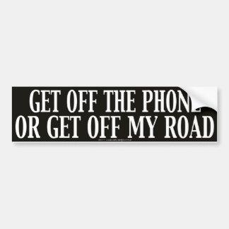 Consiga del teléfono o consiga de mi camino etiqueta de parachoque