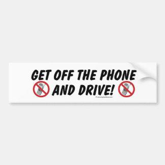 Consiga del teléfono y conduzca etiqueta de parachoque