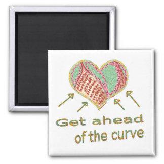 Consiga delante de la curva - jerga de la gestión imán cuadrado