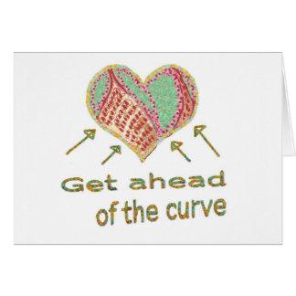 Consiga delante de la curva - jerga de la gestión tarjeta de felicitación