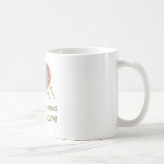 Consiga delante de la curva - jerga de la gestión taza de café