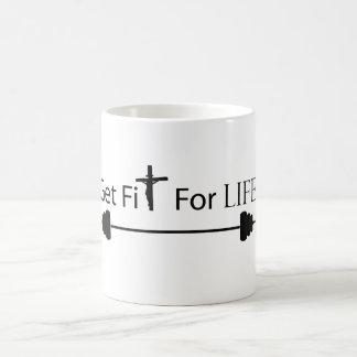 Consiga el ajuste para la taza de la vida