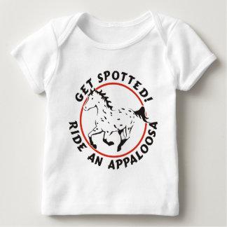 Consiga el Appaloosa manchado del leopardo Playera De Bebé
