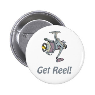 ¡Consiga el carrete! Botón Pin Redondo De 2 Pulgadas